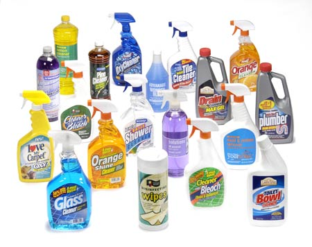 Household Cleaning Items - Household bathroom cleaners