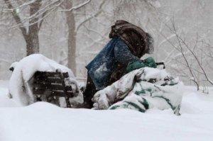 homeless in snow