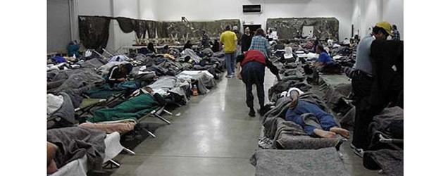 homeless shelter bed