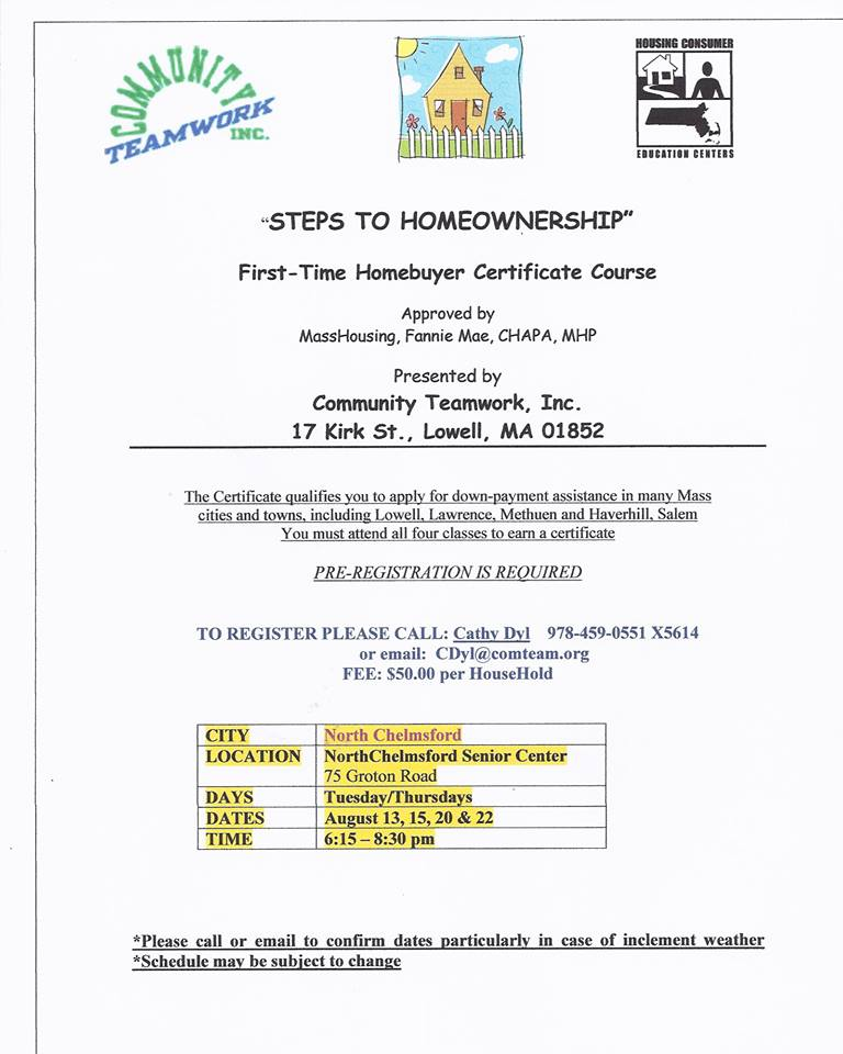 CTI First Time Home Buyer Certificate Classes – August 2013 ...