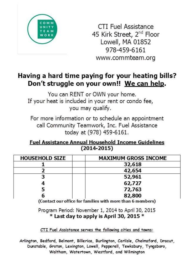 FY15 Fuel Assistance Flyer